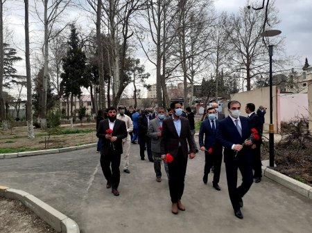 İƏT nümayəndə heyəti Gəncədə raketlə vurulan ərazilərə baxıb - FOTO