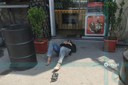 Bakıda velosipedi qaçırmaq istəyən şəxsi avtomobil vurdu - FOTO
